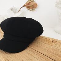 №【2019新款】冬天带的鸭舌贝雷帽女泫雅八角帽秋冬英伦南瓜画家蓓蕾帽毛呢帽檐帽子 可调节