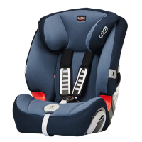 britax宝得适超级百变王9个月-12岁汽车儿童安全座椅3c认证 皇室蓝