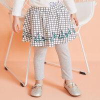 【1件2.5折到手价:38.8】moomoo童装女童裤子新款春装假两件韩版洋气小儿童宝宝裙裤