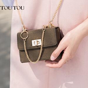 toutou2017新款夏季斜挎小包包女韩版简约百搭时尚小方包迷你包链条包潮