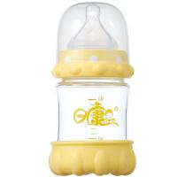 【当当自营】日康 弹性护体玻璃奶瓶140ML RK-3102(新老包装替换中)