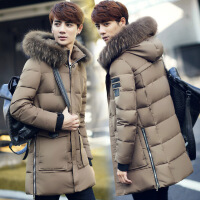 秋冬季新款17岁青少年中长款羽绒服男