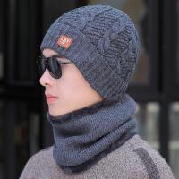 冬季男士帽子潮时尚毛线帽保暖针织冬天棉帽户外骑车青年