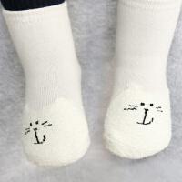 宝宝袜子秋冬季0-1岁儿童可爱防滑地板袜冬装长袜1-3岁婴儿毛巾袜