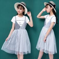 女童洋气夏装裙子新款中大童韩版时尚女孩连衣裙