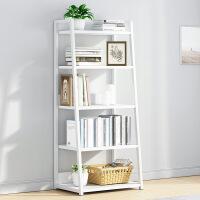 【限时直降】幸阁 环保加厚梯形单架钢木书架 小户型多层书橱组合书架置物架货架展示架