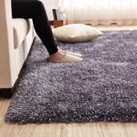 加厚满铺榻榻米简约地毯客厅家用茶几现代床边垫沙发长毛卧室地毯 2X3米 送门垫 (收藏+购物车优先