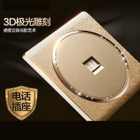 【支持礼品卡】家用开关插座86/118型墙壁式16A带双控一开五孔5多孔插座面板4dn