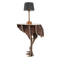幸阁家居 鸵鸟边几书架 北欧ins亲子创意复古风 动物置物架玄关桌 木制摆件装饰书架