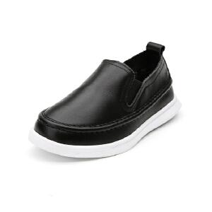 比比我 童鞋秋冬新款男童皮面儿童学生板鞋小童
