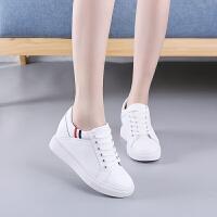 内增高小白鞋女冬季加绒2018新款百搭韩版皮面显瘦厚底休闲鞋