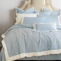 床上四件套纯棉全棉四件套简约大气素色床单被套床笠款床上用品