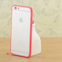 iphone6手机壳plus磨砂硬底防指纹壳6硅胶边框苹果6S小清新保护套潮牌个性创意简约男女情侣新