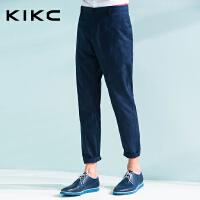 【每满100立减50,领券再减20,仅限8.15-8.18】kikc男装 夏季专柜潮流韩版时尚修身男新款休闲长裤