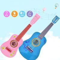 23寸印花儿童玩具民谣钢弦木质可发音吉他3-10岁适用启蒙礼物a286