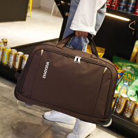 旅行包女手提拉杆包旅游大容量登机包折叠防水待产包行李包男 深棕色 小