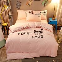 ???床单被罩枕套三件套床上用品学生宿舍单人女生四件套女寝室