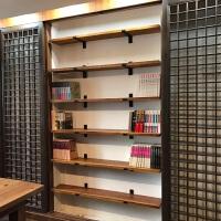 创意一字搁板墙上阳台置物架实木壁挂装饰隔板墙壁书架厨房收纳架