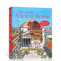【全店300减100】Usborne 古罗马英文原版 See Inside Ancient Rome看里面系列 科普立体