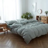 大格系列良品水洗棉四件套北欧被套床笠床单