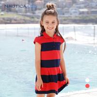 诺帝卡童装女童连衣裙无袖polo裙儿童夏季新品条纹裙学院风