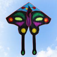 潍坊风筝舞天新款儿童蝴蝶风筝大型三角大亮眼热印蝴蝶风筝
