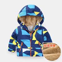 男童加绒羊羔绒外套2018秋冬新款童装儿童宝宝冬装棉衣小童