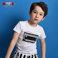 【3件2折价:29.8】铅笔俱乐部童装2019夏季男童短袖T恤中大童圆领T恤儿童T恤男童T恤