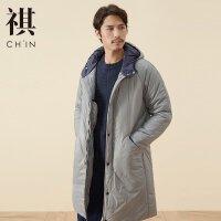 【2件2.5折到手价:107.25,4月10日0点】CHIN祺中长款棉衣男士外套冬季新款大码棉服加厚棉大衣袄子男
