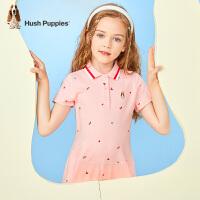 【2件5折:204元】暇步士童装女童Polo裙2021夏季新款中大童翻领连衣裙儿童甜美透气裙子
