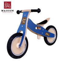 儿童平衡车无脚踏木制滑行学步车德国小木车童车周岁 牛仔汉普车