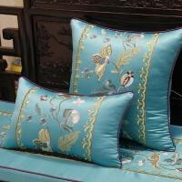 新中式花鸟红木沙发垫靠垫实木家具圈椅坐垫罗汉床垫海绵加厚定做