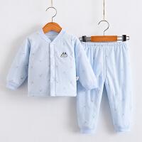 婴儿保暖内衣套装加厚秋冬婴幼儿宝宝棉衣新生儿夹棉儿童衣服