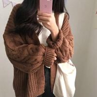 秋冬女装chic新款韩版bf宽松长袖针织开衫女学生网红毛衣外套yly 均码