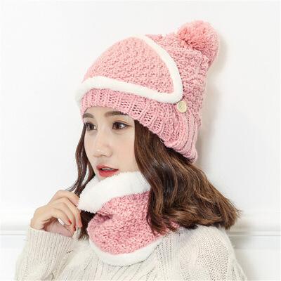 №【2019新款】去哈尔滨旅游毛线帽子冬天带的女士防风帽简约百搭街头风加厚  L(58-60cm)