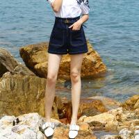 牛仔短裤女 高腰2018夏装韩版宽松学生百搭a字阔腿短裤女夏热裤
