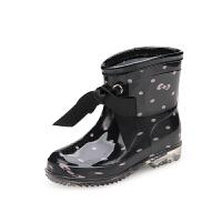 儿童雨鞋冬秋女童宝宝中筒雨靴底轻防水鞋小孩套鞋塑胶