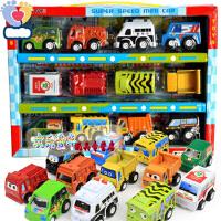 欢乐童年儿童玩具警车巴士仿真合金回力车惯性小汽车模型男孩玩具车玩具车  ABS塑料 耐摔耐玩