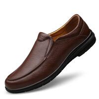 真皮皮鞋商务休闲鞋44码男鞋秋冬季软底爸爸鞋棉鞋38