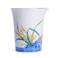 陶瓷公道杯大号茶海白瓷景德镇青花瓷功夫茶具公杯分茶器 兰有香公道杯 高款
