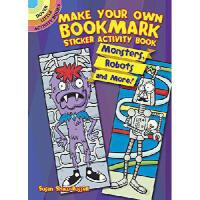 【预订】Make Your Own Bookmark Sticker Activity Book: Monsters,