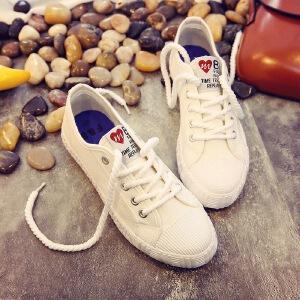 2017新款小白鞋女秋冬季新款厚底加绒百搭松糕底学生韩版运动鞋帆布鞋保暖板鞋休01LBK