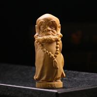 木雕菩提达摩把件饰品红木佛像工艺品达摩祖师摆件