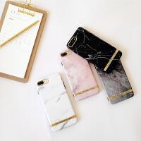 韩国大理石纹苹果6s手机壳iPhone7plus/8/X/XR/Xs/Max软壳情侣款 I6/6S CHIC大理石 粉