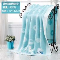 初生婴儿浴巾纱布包被子新生儿盖宝宝用的洗澡超柔大毛巾全棉