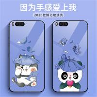 小米6手机壳 小米6保护套 小米6钢化玻璃壳镜面软硅胶全包边个性卡通熊手机套