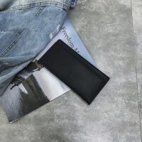 钱包女长款韩版潮个性小清新简约学生可爱薄零钱包s6 黑色