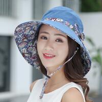 夏季遮阳帽女太阳帽户外出游遮脸百搭渔夫帽子