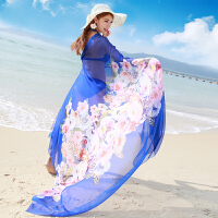 夏季大丝巾海边遮阳防晒披肩纱巾度假沙滩巾女长款百搭旅游必备