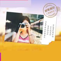 明信片定制diy照片lomo卡定做名信贺卡空白卡片纸风景文艺单词卡l3b